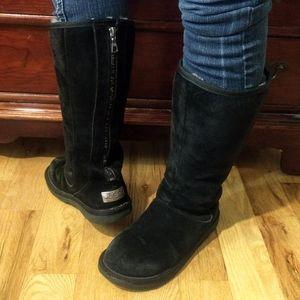 UGG Knightsbridge Black Zip Back Sheepskin Boots